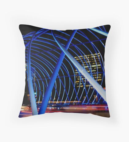 Vivid Blue Arch Throw Pillow