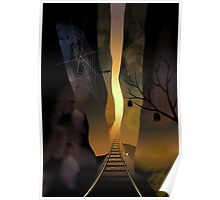 Beauty of the railway track running through the hills Poster