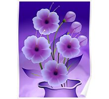 Stunning beauty of the flowers in a pot Poster