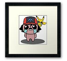 The Binding Of Isaac/Pokémon Crossover - Ash Ketchum and Pikachu (Sinnoh) Framed Print