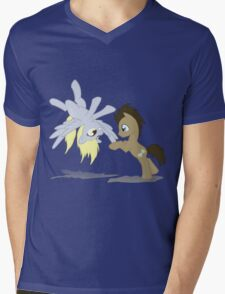 Derpy and Doctor Whooves Mens V-Neck T-Shirt