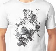 SKULLS BLACK AND WHITE FADING Unisex T-Shirt