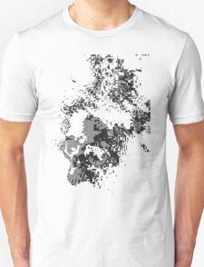 SKULLS BLACK AND WHITE FADING T-Shirt