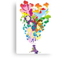 Friends Dreaming Colour Canvas Print