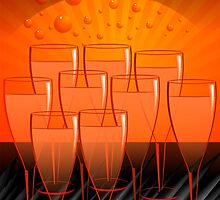 Exciting arrangement of the wine glasses  by tillydesign
