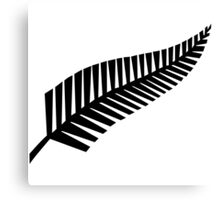 All Blacks New Zealand Fern Canvas Print