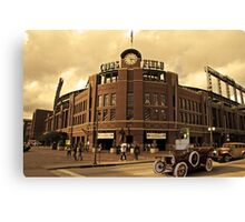 Old Time Coors Field Look Canvas Print
