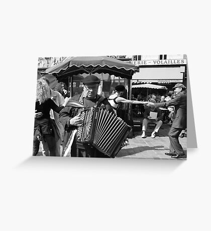 Rue Mouffetard Market (Paris) Greeting Card