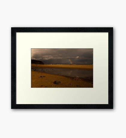 saltwater lagoon Framed Print