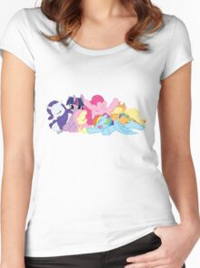 Sleepy Ponies Women's Fitted Scoop T-Shirt