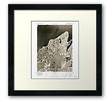 Massachusetts  USGS Historical Topo Map MA Vineyard Haven 351381 1977 25000 Framed Print