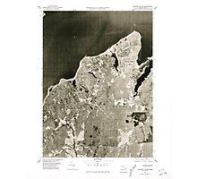 Massachusetts  USGS Historical Topo Map MA Vineyard Haven 351381 1977 25000 Photographic Print