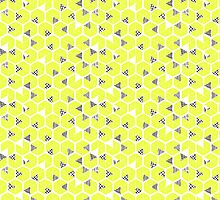 Crowded umbrellas in yellow by EmpireEco