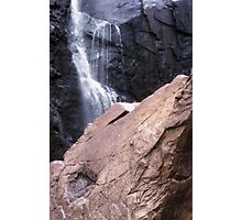 Waterfall Rock Formation Photographic Print