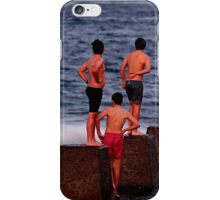 Boys at the beach iPhone Case/Skin