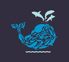 Blue Whale Womens Fitted T-Shirt