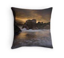 Sun set in Stone Throw Pillow