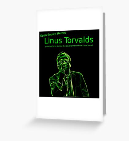 Linux Open Source Heroes - Linus Torvalds Greeting Card
