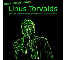 Linux Open Source Heroes - Linus Torvalds Photographic Print