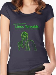 Linux Open Source Heroes - Linus Torvalds Women's Fitted Scoop T-Shirt
