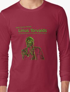 Linux Open Source Heroes - Linus Torvalds Long Sleeve T-Shirt