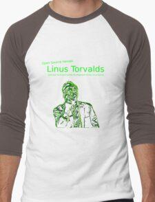 Linux Open Source Heroes - Linus Torvalds Men's Baseball ¾ T-Shirt