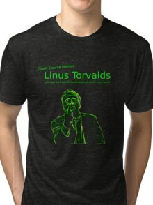 Linux Open Source Heroes - Linus Torvalds Tri-blend T-Shirt