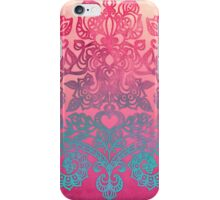 Ombre Folk Art Doodle iPhone Case/Skin
