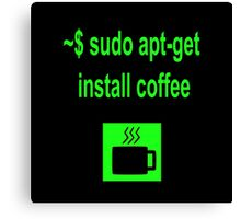 Linux sudo apt-get install coffee Canvas Print