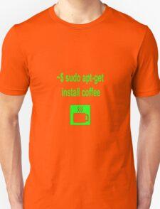 Linux sudo apt-get install coffee Unisex T-Shirt