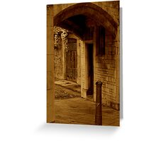 Beneath The City Streets Greeting Card