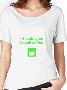 Linux sudo yum install coffee Women's Relaxed Fit T-Shirt