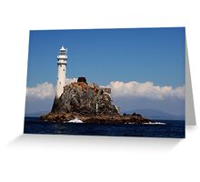 'Ireland's Teardrop' - the Fastnet Rock and lighthouse Greeting Card