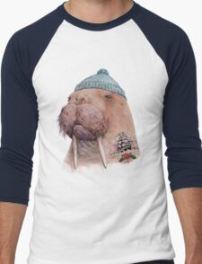Tattooed Walrus Men's Baseball ¾ T-Shirt
