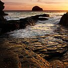 Trebarwith After The Sun by Adrian Hall