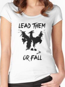 Lead them or fall! Women's Fitted Scoop T-Shirt