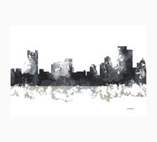 Pittsburgh, Pennsylvannia Skyline - B&W Kids Tee