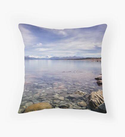 Lake Pukaki: 100% Pure Throw Pillow