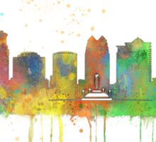 Orlando, Florida Skyline Sticker