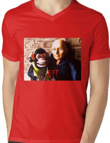 Hugo and Jolly Chimp: BFF Mens V-Neck T-Shirt