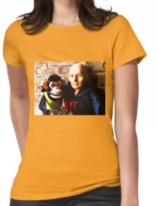 Hugo and Jolly Chimp: BFF Womens Fitted T-Shirt
