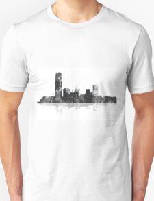 Oklahoma City, Oklahoma Skyline - Black and White Unisex T-Shirt