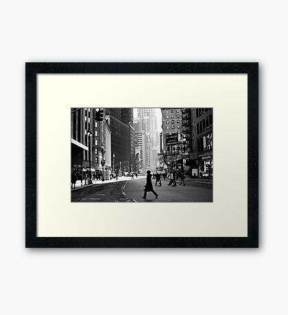 Street Life on Broadway, New York City Framed Print
