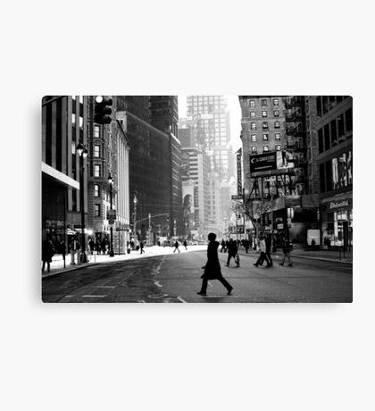 Street Life on Broadway, New York City Canvas Print