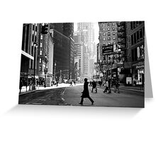 Street Life on Broadway, New York City Greeting Card