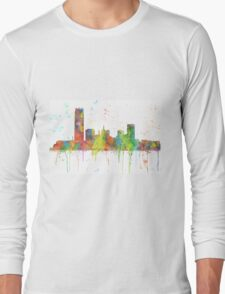 Oklahoma City, Oklahoma Skyline Long Sleeve T-Shirt