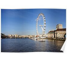 London eye on Thames Poster