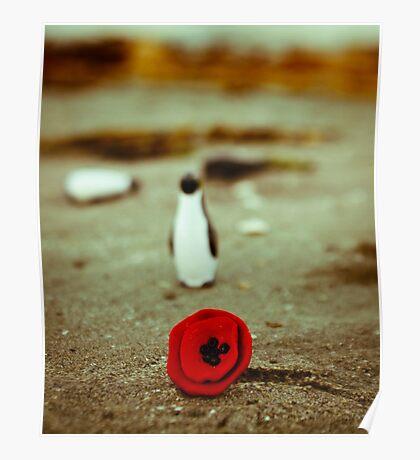 Penguin & poppy Poster