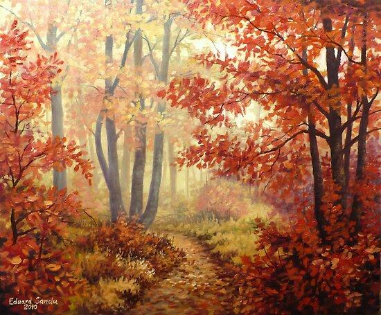 red trees by edisandu
