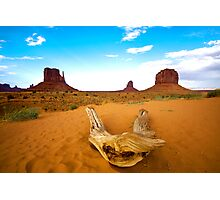 Monument Valley at sunset Photographic Print